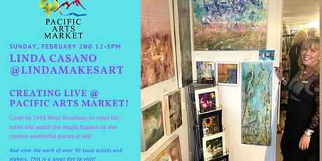 Linda Makes Art at Pacific Arts Market tickets