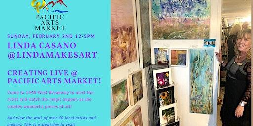 Linda Makes Art at Pacific Arts Market