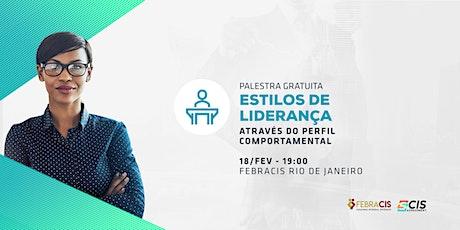 [RIO DE JANEIRO/RJ] Palestra Gratuita - ESTILOS DE LIDERANÇA ingressos