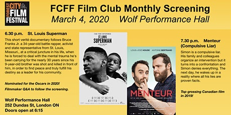 FCFF Film Club March Screening: Menteur & St. Louis Superman tickets