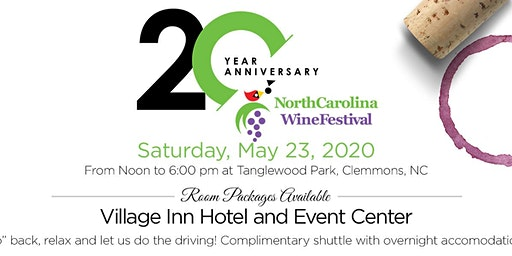 20th Annual NC Wine Festival Room Packages
