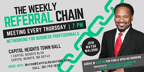 The Weekly Referral Chain - Business Networking Meeting tickets