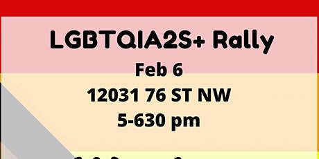 LGBTQIA2S+ Rally: We are queer, here and we won't be silenced! tickets