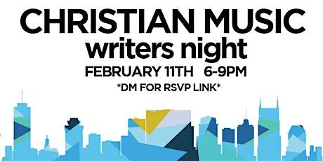 CCM WRITERS NIGHT tickets