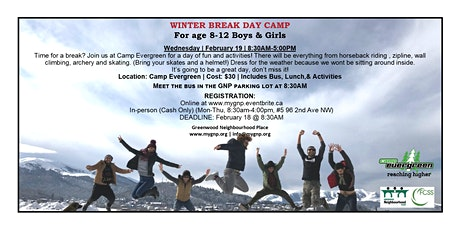 Winter Break Day Camp Ages 8-12 tickets