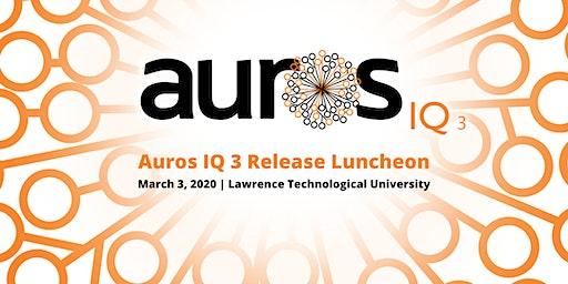 Auros IQ 3 Release Luncheon