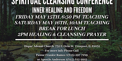 Spiritual Cleansing Conference Freeport IL.