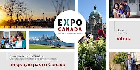 Consultoria de Imigração para o Canadá Presencial - Vitória - 17/Março ingressos
