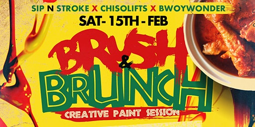 BRUSH & BRUNCH | Paint party | Food Included (3pm - 7pm)