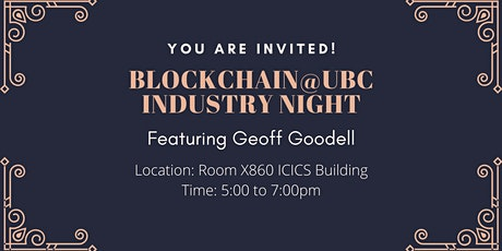 Blockchain@UBC Industry Night tickets