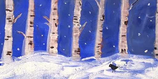 Paint Night  - Winter Trees - Drink, Chat, Paint your own canvas!