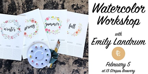 Watercolor Workshop at 13 Stripes Brewery