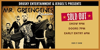 Mr. Greengenes Reunion - SOLD OUT!