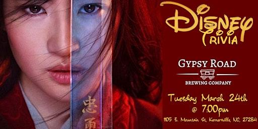 Disney Movie Trivia at Gypsy Road Brewing Company