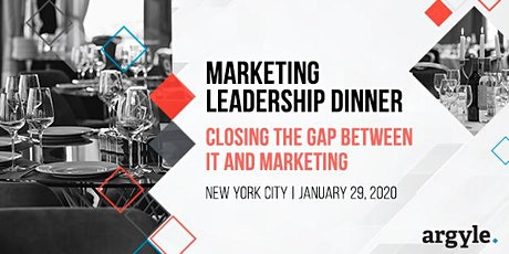 IT and Marketing Leadership Dinner - NYC tickets
