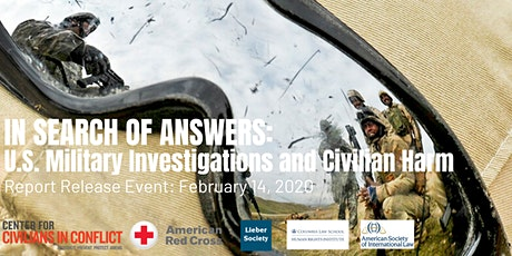 In Search of Answers: US Military Investigations and Civilian Harm tickets