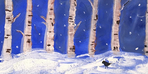 Paint Night  - Winter Trees - Paint your own ready to hang canvas!
