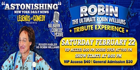 Legends of Comedy Presents: The Ultimate Robin Williams Tribute Experience tickets