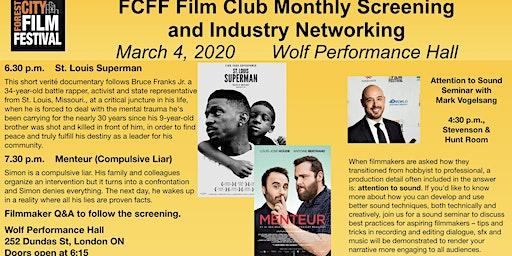 FCFF Film Club March 4: Menteur & St Louis Superman + Industry Event