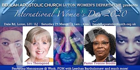 International Women's Day 2020 Beulah Luton Women's Department tickets