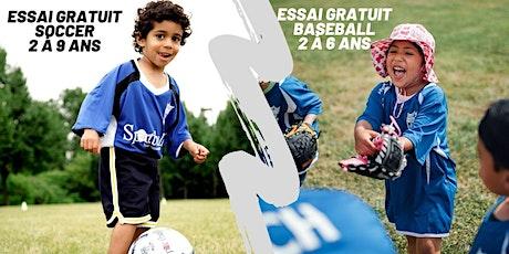 Essai Gratuit de Soccer et Baseball à Laval - 2 à 9 ans billets