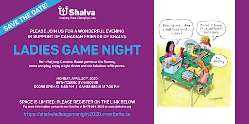 Canadian Friends of Shalva's 6th  Annual Ladies Game Night!!!