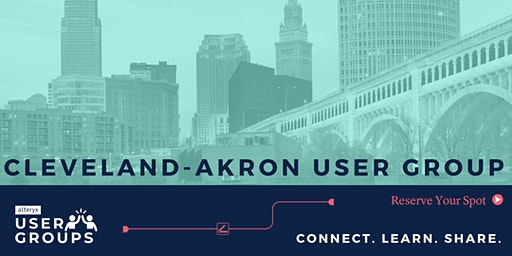 Cleveland-Akron Alteryx User Group Q1 Meeting