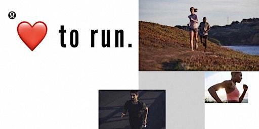 lululemon run club - love to run - 5K / 10K
