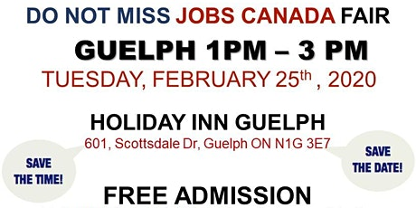Guelph Job Fair – February 25th, 2020 tickets