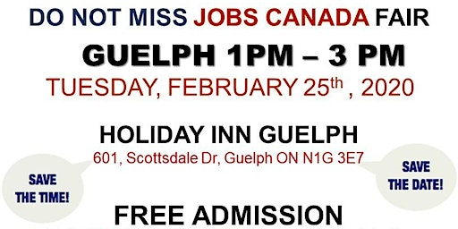 Guelph Job Fair – February 25th, 2020