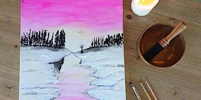 Meditatives Malen Winterlandschaft