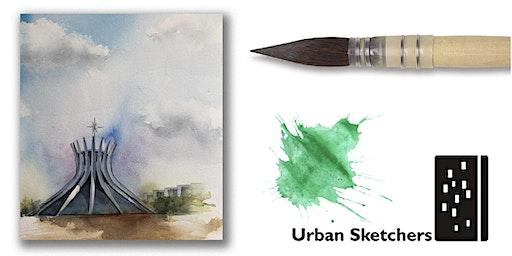 """Workshop de Aquarela para """"Urban Sketch""""-Brasília-sáb e dom-14 e15 março"""