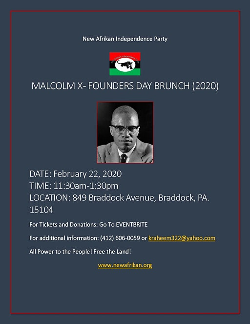 Malcolm X-Founders Day Brunch