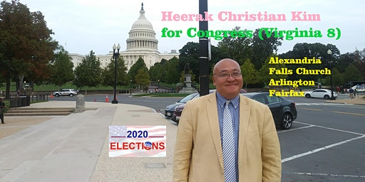Heerak Christian Kim for US Congress Town Hall in Alexandria, Virginia