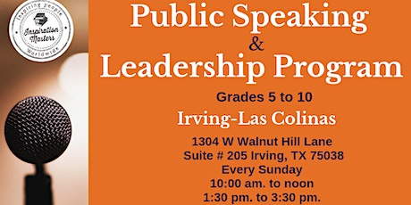 Public Speaking and Leadership Program in Irving tickets
