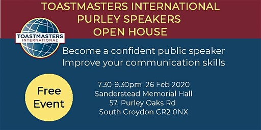Toastmasters International - Purley Speakers Open House