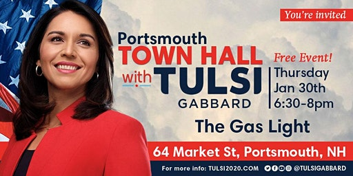 Portsmouth Town Hall with Tulsi Gabbard