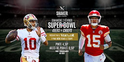 Le Super Bowl du VERT & OR au Shaker Sherbrooke