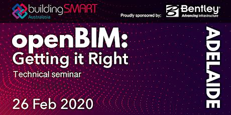 openBIM: Getting it Right Technical seminar (Adelaide) tickets