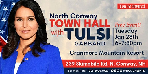 North Conway Town Hall with Tulsi Gabbard