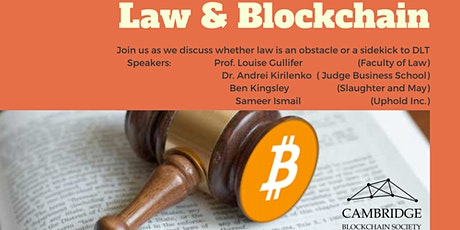 Law and Blockchain: Is Law an obstacle or a sidekick to blockchains? tickets