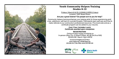 Youth Community Helpers Training tickets
