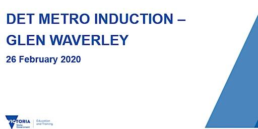 DET Metro Induction - Glen Waverley