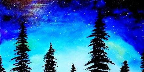 Paint Wine Denver Galactic Night Sky Thurs Jan 23rd 6:30pm $35