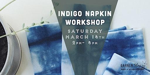 Indigo Napkin Workshop
