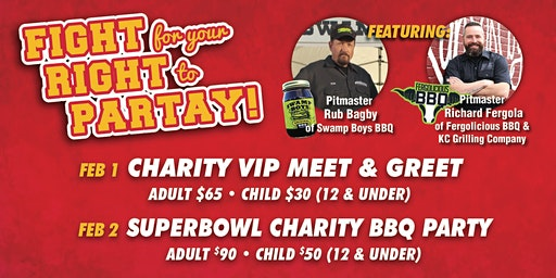 Fight For Your Right To Partay!  Feb. 2 - Tailgate Superbowl Watch PARTY!!!
