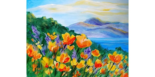 "3/2 - Corks and Canvas Event @ Vino at The Landing, Renton ""California Poppies"""