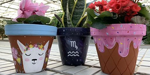 Galentine's Day: Painted Flower Pot Workshop for Two - St. John, IN