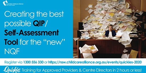 Quickies: Creating the best possible QIP/Self-Assessment Tool submission