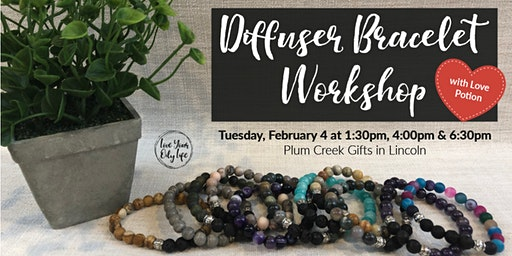 Diffuser Bracelet with Love Potion Blend Workshop